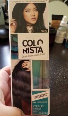 L'Oreal Colorista for Brunettes in Teal