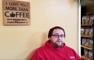 My favorite things: coffee and Dan
