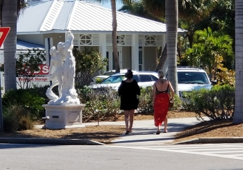 I love the statues around St. Armands Circle in Sarasota