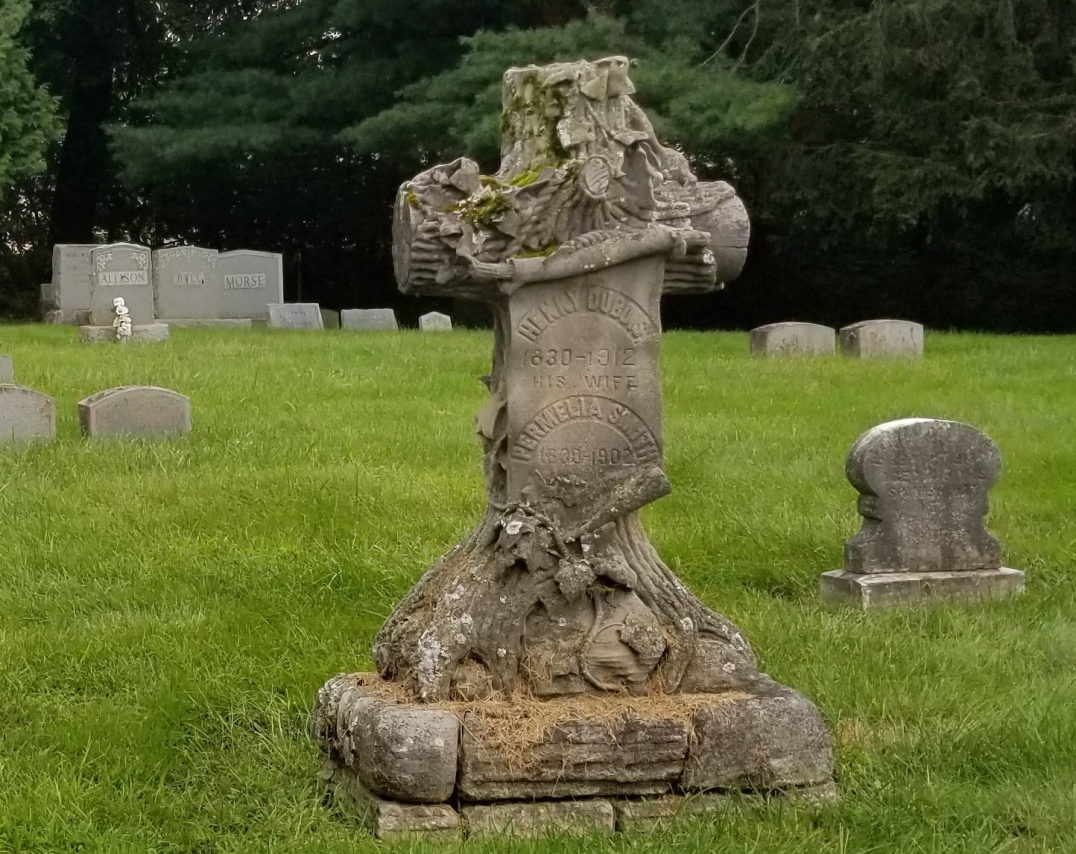 This stone was made to look like it was carved from a tree. Cool right?